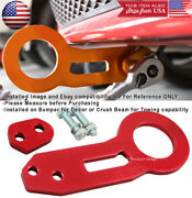 Cnc Aluminum Anodized Billet Red Rear Bumper Tow Hook Towing Kit For Hyundai
