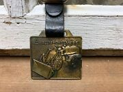 Vintage Old Allis Chalmers Tractors Pocket Watch Fob Farm Advertising Brass