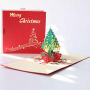 100x Xmas Tree Merry Christmas New Year Thank You Card Decorations Holiday Cards