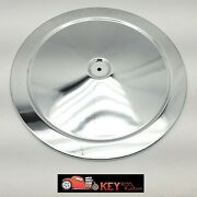 14 Chrome Air Cleaner Lid Top Smooth Muscle Car Style Chevy Ford Mopar 350 302