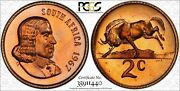 1967 South Africa English 2 Cent Pcgs Pr67rb Toned Only 1 Graded Finer Worldwide