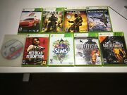 Xbox 360 Lot - Forza 4, Gears Of War, Battlefield 2, Red Dead Redemption, Sims 3