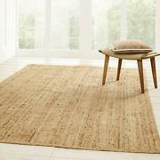 Natural Fiber Reversible High Traffic Resistant Braided Jute Area Rug 2and039 X 4and039