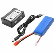 For Promark Vr Promark Warrior Cw P70 Drones Usb Battery+charger Set
