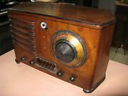 Emerson Deco Wooden Radio Not Cathedral - May Not Be Fully Functioning - Parts