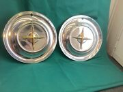 Rare Vintage Set Of 2 1954 Chrysler 15andrdquo Hubcaps New Yorker Good Condition Nice