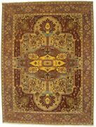 Rusty Red One-of-a-kind Traditional Classic Heriz New 9x12 Oriental Area Rug