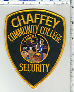 Chaffey Community College Security California 1st Issue Shoulder Patch