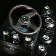 Nrg 142h Hub+black Chrome Gen2.5 Quick Release+leather Red Stitch Steering Wheel