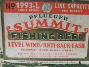 1993l Pflueger Summit Fishing Reel In Box With Instructions