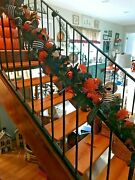 Ashland Halloween Garland Spiders And Candy Corn Lush With Ornaments New