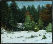 Winter In Forest Gustave Courbet 1819-1877 Entourage Original Oil On Canvas