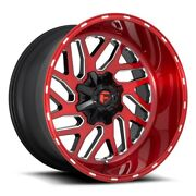 Fuel Triton D691 Rim 20x10 8x180 Offset -18 Brushed Candy Red Quantity Of 4
