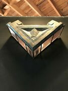 Art Deco Sconce, Metal And Luxfer Glass,one Of Four, Handmade