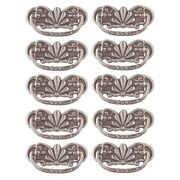 10 Cabinet Pull Pewter Solid Brass Scalloped Bail | Renovator's Supply