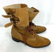 Wwii Us Army Wac Female Double Buckle Combat Boots