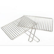Non-stick Mesh Grilling Basket Stainless Grids Bake Food Outdoor Picnic Tool