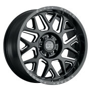 Black Rhino Reaper 20x11.5 8x180 Et-44 Gloss Black W/milled Spokes Qty Of 4