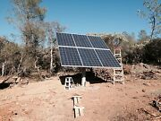 Solar Panel Pole Mount/holds 6 Large Panels/fits A 6 Pipe Or Post. Adjustable