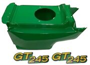 New Lower Hood And Set Of 2 Decals Replaces Am132688 M146426 Fits John Deere Gt245