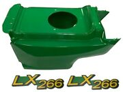 New Lower Hood And Set Of 2 Decals Replaces Am132688 M146004 Fits John Deere Lx266