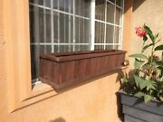 Window Redwood Planter Box - 36in. - Mission Brown Finish