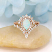 Natural Opal High Quality Diamond Wedding Ring 14k Solid Gold Engagement Womenand039s