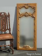 Vintage French Provincial Gold Wall Mantle Mirror Trumeau Style