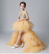 Childrens Kids Girls Oriental Chinese Traditional Style Qipao Dress Ruffle Gown