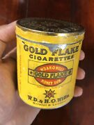 Antique Bristol And London Tin Litho Box Case W.d.andh.o. Wills Gold Flake Cigarette