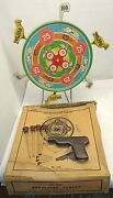 Rare Antique Hoge Mfg. Co. Wind-up Revolving Target No.350 Shooting Suction Cup