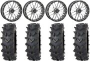System 3 St-3 Machined 20 Wheels 35 Outback Maxand039d Tires Kawasaki Mule Pro Fxt