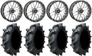 System 3 St-3 Machined 20 Wheels 35 Interforce 628 Tires Can-am Maverick X3