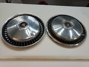 Pair Of 70s 80s 1981 81 Ford F 100 Hubcaps Oem 15 Inch