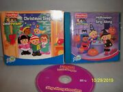 Fisher-price Little People Christmas Sing-along 2 Cd Set And Halloween Lot