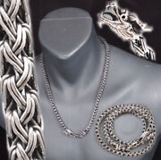 Dragon Snake Braided Woven 925 Sterling Silver Mens Necklace Chain 18 To 28