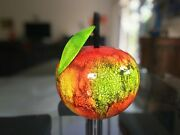 Large Apple Sculptures Hand Crafted Wood Home Decor