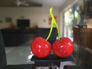 Large 18 Lage Cherry Sculptures Hand Crafted Wood Home Decor