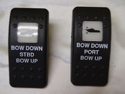 Trim Switches Black One White Lens Contura Ii Port Starboard Lighted