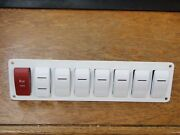 Switch Panel Carling Contura 8 Switches Marine Boat Rv Psc81wh V1d1 Vjd1 V2d1