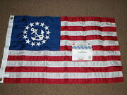 Yachting Sailing Boating Flag 36x60 Inch Delux Sewn Us Yacht Ensign Flag 32-8160