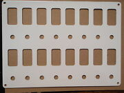 Switch Panel Fits 16 Carling Contura Switches And Breakers White Psbc82wh Boat