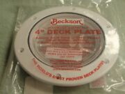 Deck Plate Screw Out Clear Center Beckson 35 Dp40wc White 4 Inch Id Boat Parts