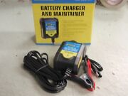 Battery Charger And Maintainer 12v 500 Ma 14383 Marine Boat Rv Car Storage