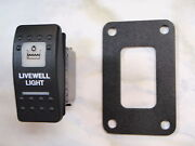 Livewell Light Switch W/ Psc Panel V1d1 Black Carling Contura Ii 2 White Lighted