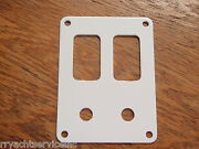 Switch Panel White Psbc21wh Fits 2 Carling V-series Switch Bases And Breakers