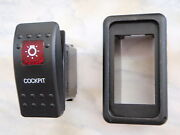 Cockpit Light Switch With Vms Panel Carling V1d1 1 Red Lens Black Contura Ii