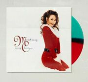 Mariah Carey Merry Christmas Green Red Translucen Vinyl Record 12 Rare Sold Out