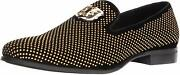 Stacy Adams Menand039s Swagger Studded Ornament Slip-on Driving Style Loafer