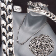 2 Headed Dragon Snake Scale Mens Necklace Chain 925 Sterling Silver 18 To 28
